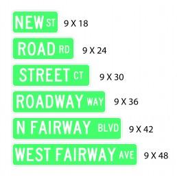 "9 "" Street Sign Flat"