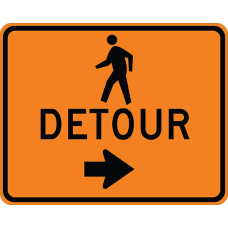 Pedestrian Detour (with arrow)