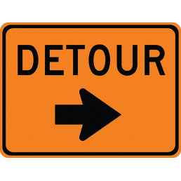 Detour (with arrow)
