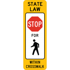 In-Street Pedestrian Crossing (Stop)