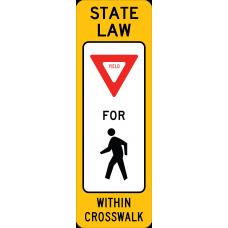 In-Street Pedestrian Crossing (Yield)