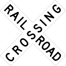 Railroad Crossing (crossbuck)