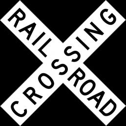 Railroad Crossing (crossbuck)