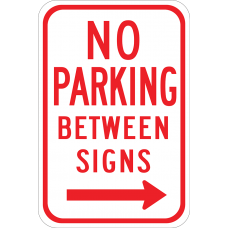 No Parkign Between Signs