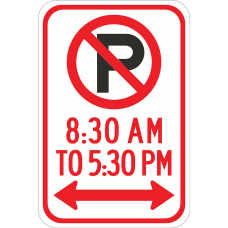 No Parking (symbol) (time limit)