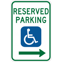 Reserved Parking For Handicapped