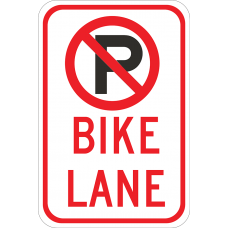 No Parking Bike Lane (Symbol)