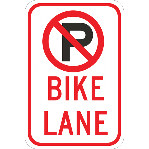 No Parking Bike Lane Symbol
