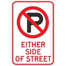 No Parking (Symbol) Either Side of Street