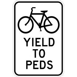 Bikes Yield To Peds