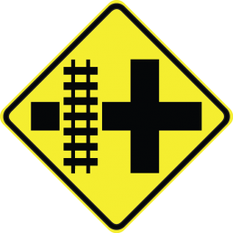 Parallel Railroad Crossing (crossroad)