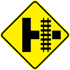 Parallel Railroad Crossing (side road)