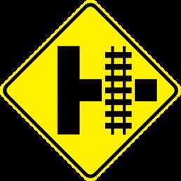 Parallel Railroad Crossing (side road)