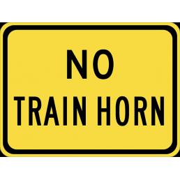 No Train Horn  (plaque)