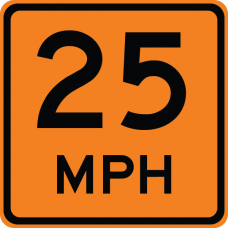 Advisory Speed (plaque) (XX)