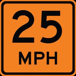 Advisory Speed (plaque) (XX)