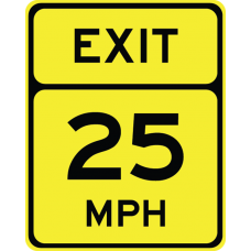 Advisory Speed (Exit) (XX)