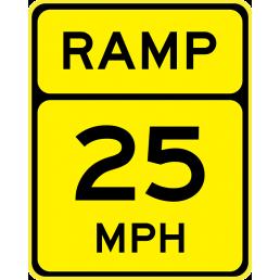 Advisory Speed (Ramp)(XX)
