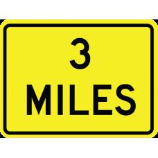 Distance (miles) (2 line)