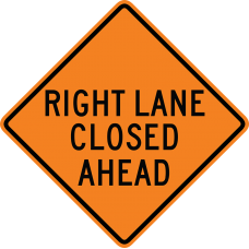 Right Lane Closed Ahead