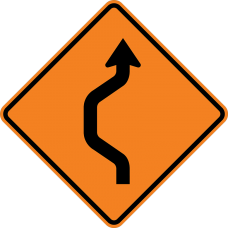 Double Reverse Curve (1 lane)