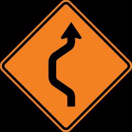 Double Reverse Curve (1 lane)